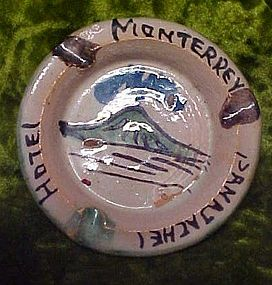 Vintage Clay Hotel Monterrey  Panajachel ashtray