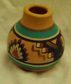 Miniatue Navajo Indian pottery vase
