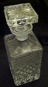 Wonderful quilted diamond design Crystal bar decanter