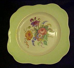 Colclough China square salad plate pattern 4783 green
