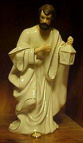 Large white porcelain w/ gold Joseph nativity figurine