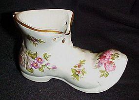 Old Foley Harmony Rose porcelain shoe figurine