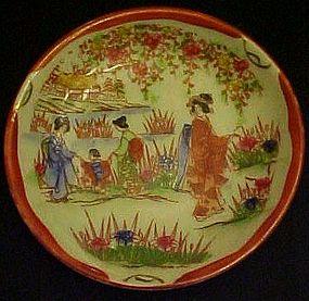 Vintage Nippon Geisha ware boys processional saucer