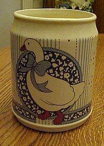 B&D Japan Ribbon Geese blue calico utensil holder