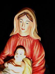 Large scale porcelain Mary and Jesus nativity figurine
