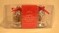 Hallmark Jingling Holiday bells salt pepper shakers MIB
