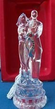 Lenox Crystal Bride and Groom ornament 2002 Boxed