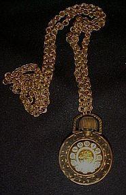 Vintage Avon pocket watch perfume bottle pendant