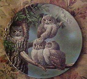 Knowles Peek-A-Whoo Screech Owls 1st plate