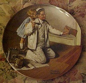 Norman Rockwell plate The Painter Heritage series