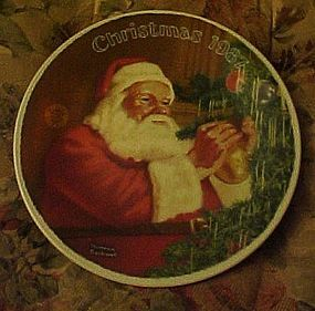Norman Rockwell 1987 plate Santa