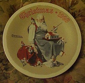 Norman Rockwell 1998 plate santa