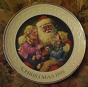 Avon 1999 Christmas plate Santa