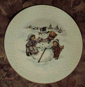 Avon 1986 Christmas plate A Child