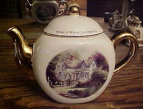 Thomas Kinkade Home is where the Heart is II teapot