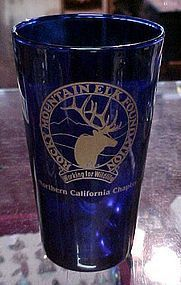 Rocky Mountain Elk Foundation cobalt blue tumbler