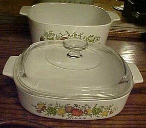 Corning Spice of Life 3 qt and 1 1/2 qt with lid