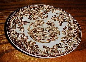 Royal Staffordshire Clarisse Cliff Tonquin brown saucer