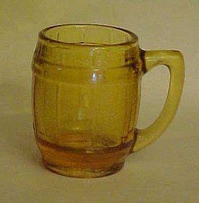 Amber barrel or keg shape shot glass or toothpick