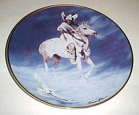 Spirit of the Winter Hawk collector plate Hermon Adams