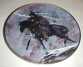 Spirit of the storm collector plate by Hermon Adams