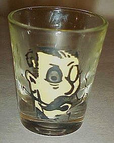"Vintage roving eye shot glass ""I say jolly what?"""