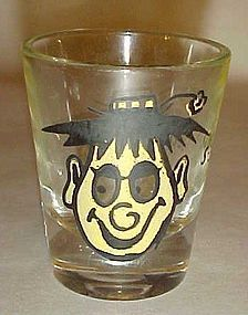 Vintage Hillbilly roving eyes shot glass S-sdelightful