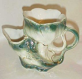 Antique coal scuttle style lustre ware shaving mug