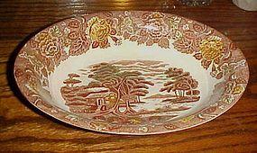 Nasco Mountain Woodland oval vegetable serving bowl