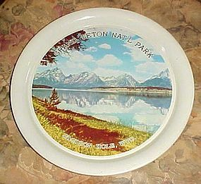 Vintage alum Grand Teton National Park souvenir tray