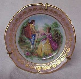 """Limoges France Miniature plate with stand  2.75"""""""