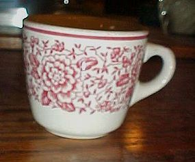 Iroquois china restaurant cup red band and flowers