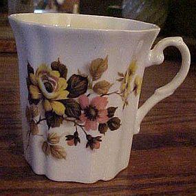 Royal Grafton bone china yellow and orange flowers mug