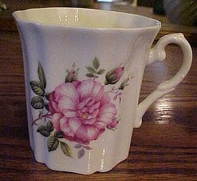 Royal Grafton bone china coffee mug wild pink rose