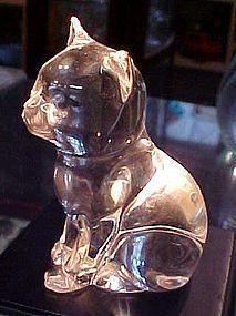 Princess House crystal sitting cat figurine