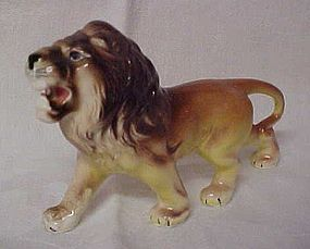 Vintage ceramic roaring lion figurine Japan