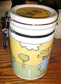 Signature Adventure Dog treats jar by Ursula Dodge