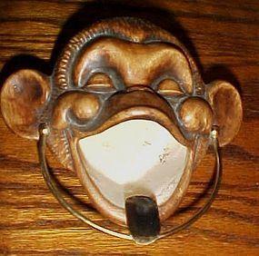 Treasure Craft monkey chimp ashtray Vintage Tiki decor