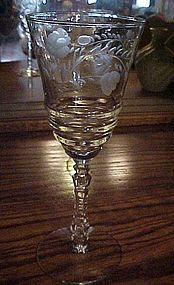 Libbey Rock Sharpe water goblet pattern 3005-16