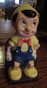 Vintage Disney Pinocchio bank by Play Pal Plastics Inc.