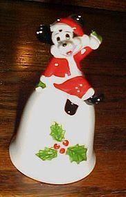 Mickey Mouse Santa porcelain Christmas bell