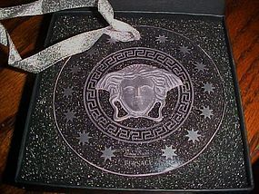 Rosenthal Versace Medusa cut crystal ornament  boxed