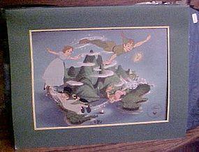 Disney Exclusive Commemorative lithograph Peter Pan