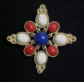Classic Americana Sarah Coventry red white and blue Pin