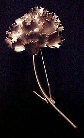 Large two tone gold Giovanni carnation flower pin