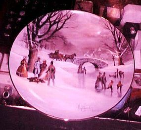 Holiday Skaters plate  Scenes from Christmas Past