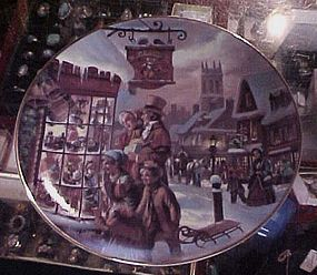 The Toy Store plate Scenes from Christmas Past
