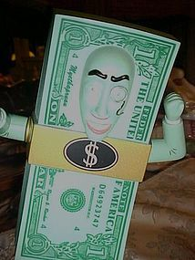 Money Talks animated talking bank