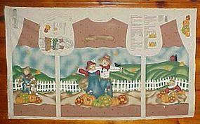 Uncut preprinted sewing craft panel Fall vest sm-med-lg