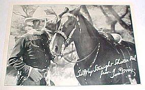 Tom Mix & Tony horse 5x7 Ralston  fan photo 1920